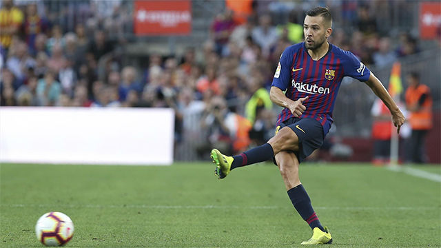 Jordi Alba Sign New Contract In Barcelona